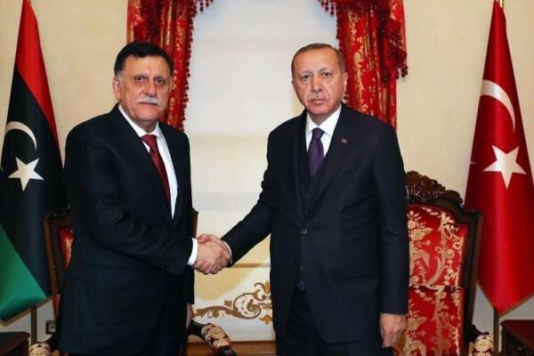 اردوغان و السراج ملاقات کردند